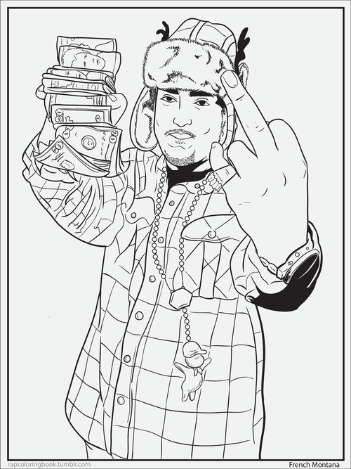 Race relations rap colouring book for Rapper coloring pages