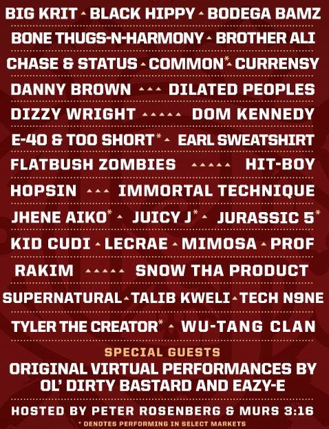 Rock The Bells Lineup