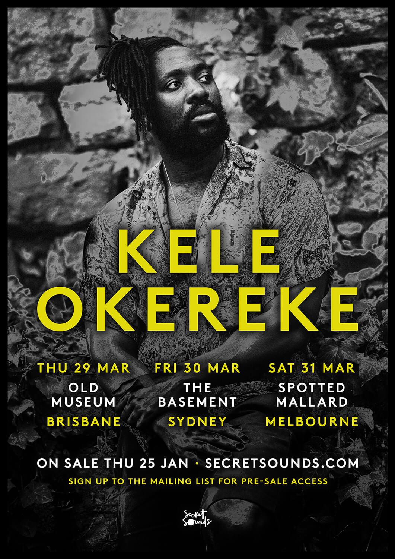 Kele Okereke 2018 Tour